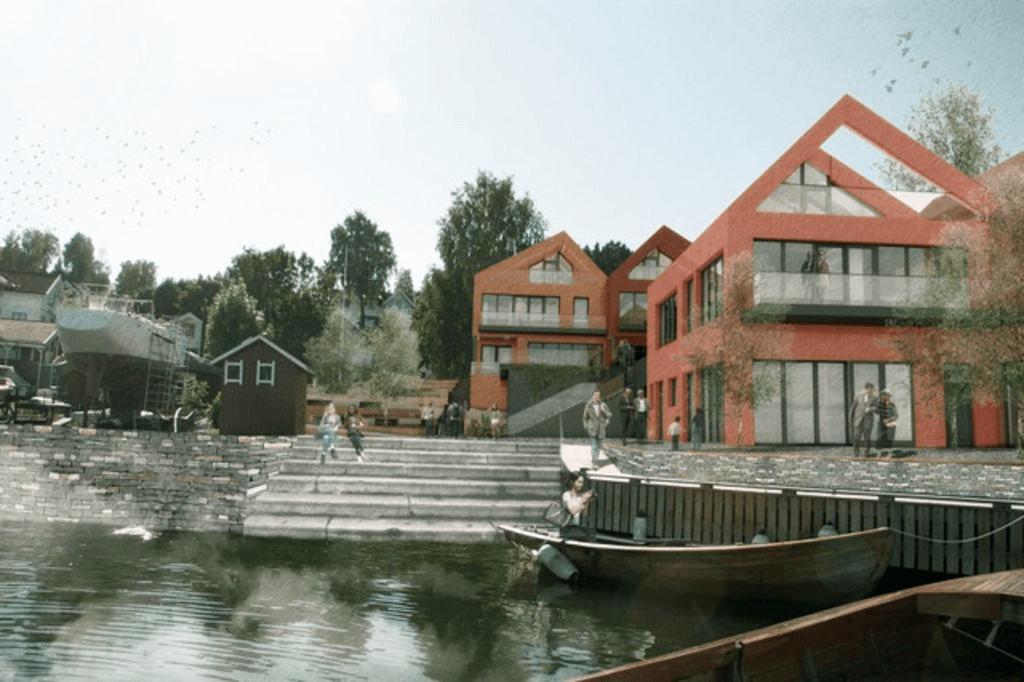 Nytt boligprosjekt ved vannkanten i Vollen