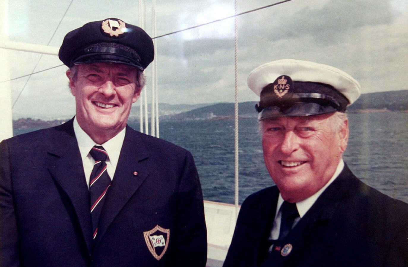 Erik Bye møtte Kong Olav om bord i kongeskipet «Norge» til intervju