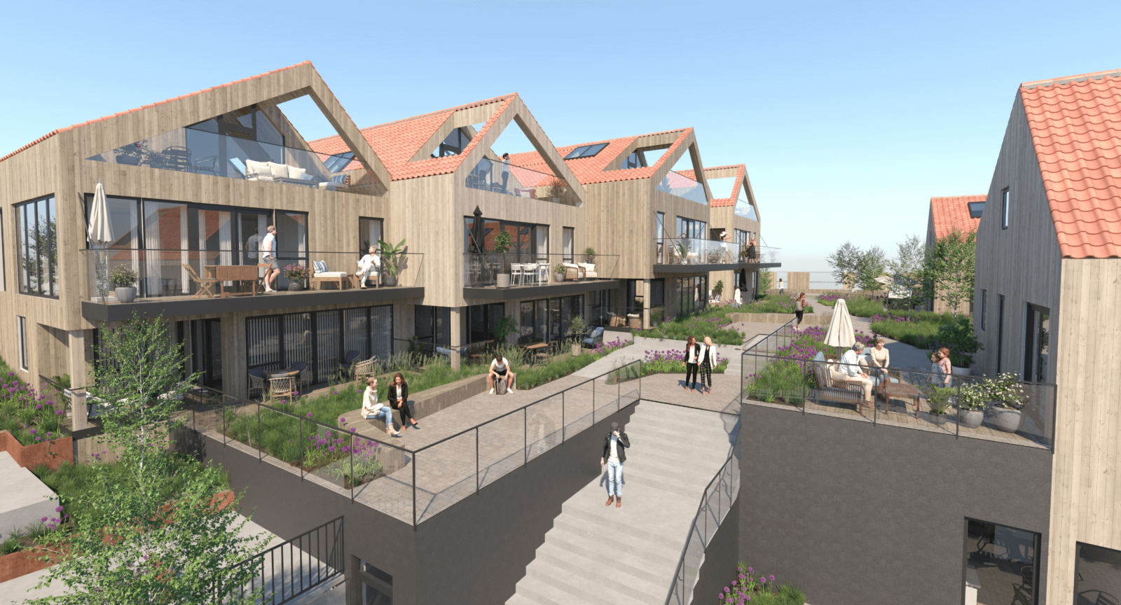 Nytt boligprosjekt i Vollen Marina - mellom radene