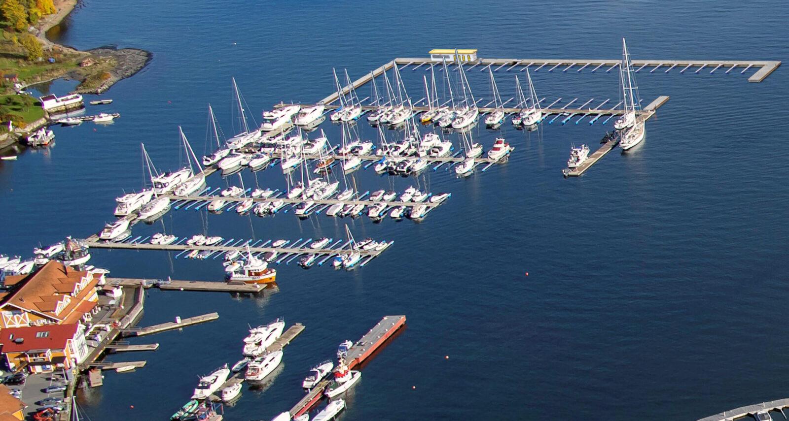 Vollen Marina flyfoto stort