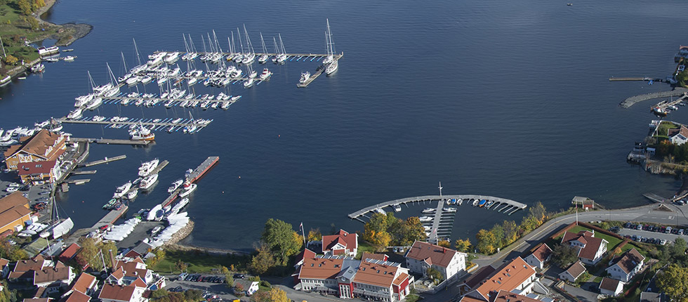 Flyfoto over Vollen Marina